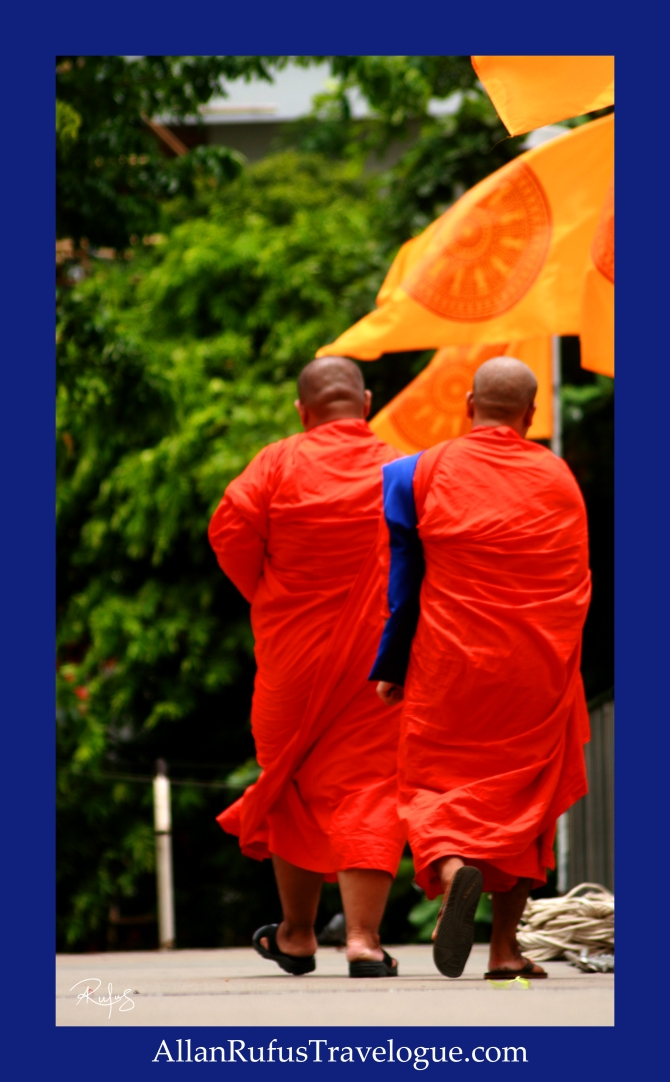 Monks Walking