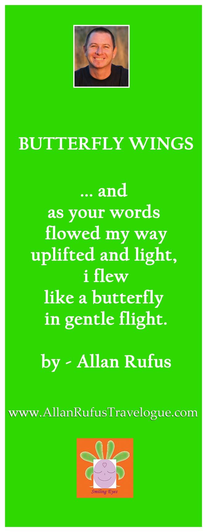 """Poem """"Butterfly wings"""" by Allan Rufus"""
