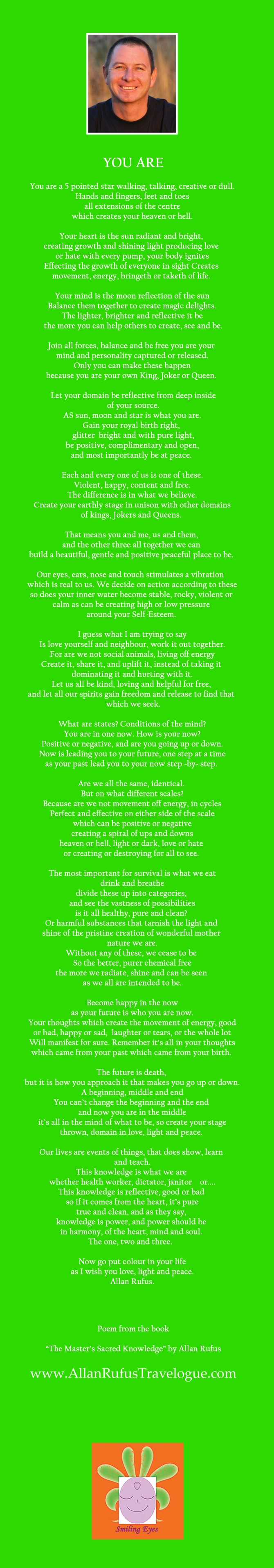 "Poem ""You Are"" by Allan Rufus"