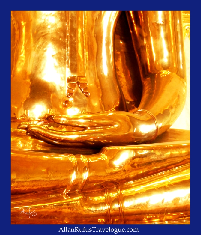 The Golden Buddha's hand