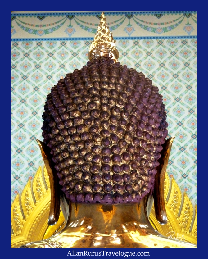 The Golden Buddha's head from the back