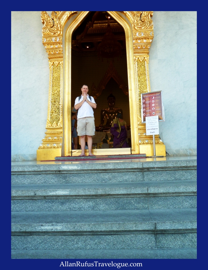Outside the door of The Golden Buddha