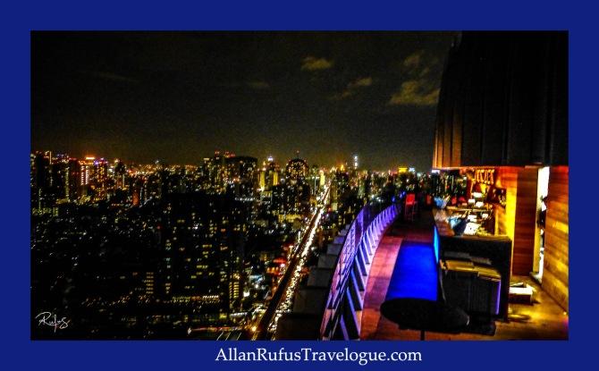 Night view from Octave Rooftop Lounge & Bar At Bangkok Marriott Hotel Sukhumvit 57, Bangkok