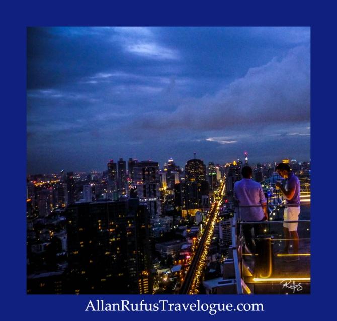 Sun downers at Octave Rooftop Lounge & Bar At Bangkok Marriott Hotel Sukhumvit, Bangkok