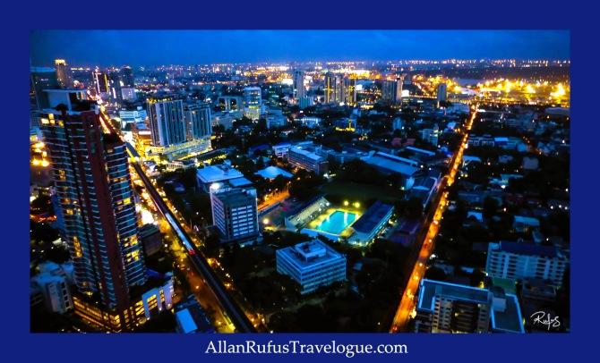 Night view from Octave Rooftop Lounge & Bar At Bangkok Marriott Hotel Sukhumvit, Bangkok