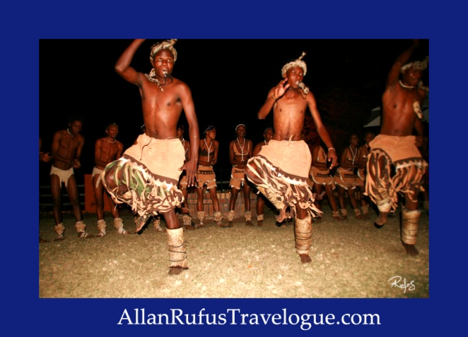 Travelogue - Allan Rufus. Botswana, Kasane, Motswana's putting on a African dance