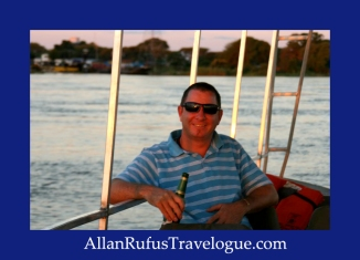 Travelogue - Allan Rufus. Botswana, Kasane, Sun downers on a cruise on the Chobe River