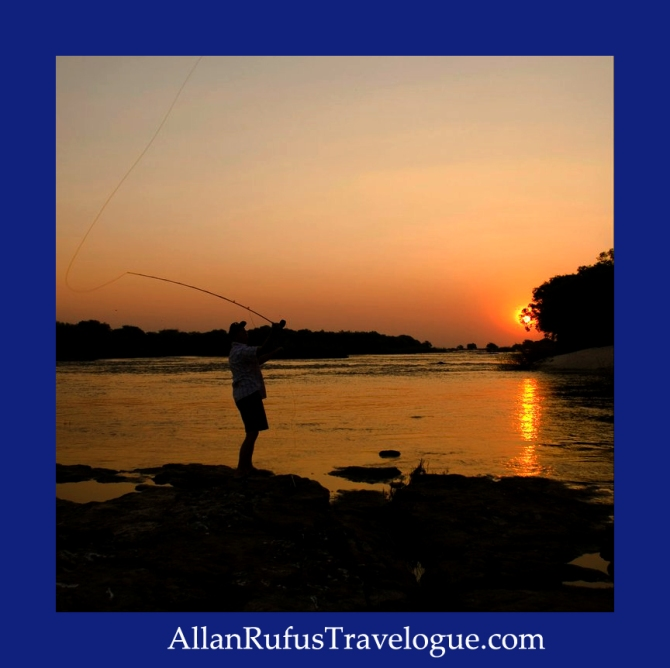 Fly fishing on Chobe River
