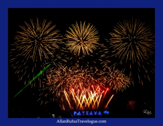 Happy New Year - Fire Works Pattaya Thailand 2014