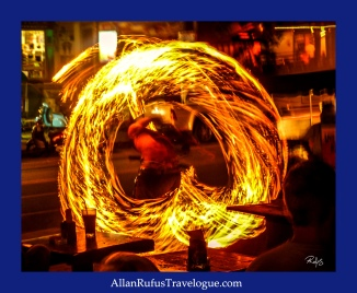Street Photography - Fire poi dancing!