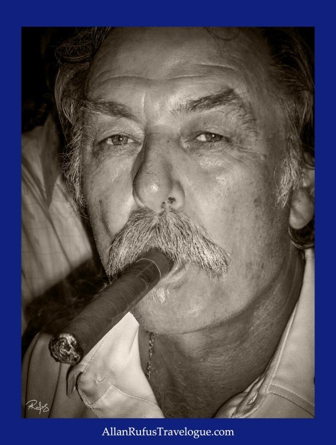Street Photography - Man smoking a cigar