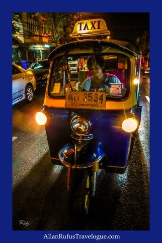 Street Photography -  A Tuk Tuk at night!