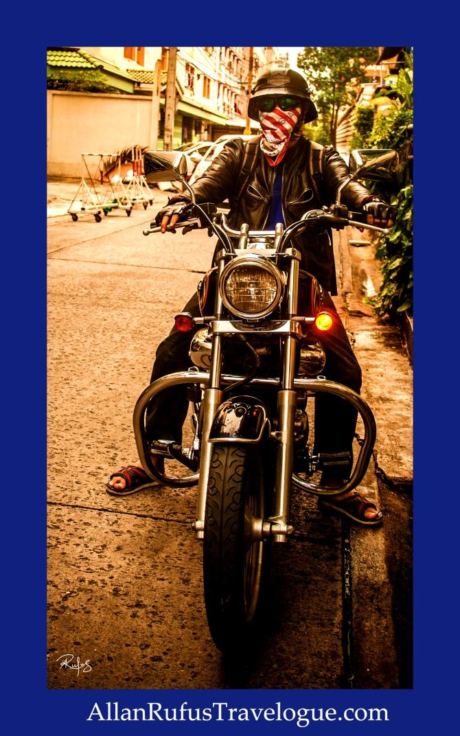 Street Photography - Biker in Bangkok!