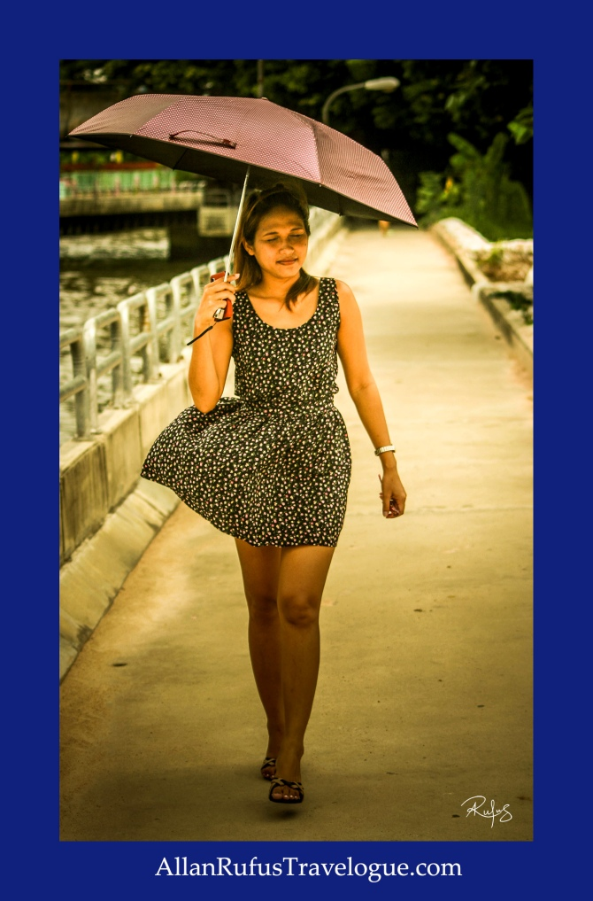 Street Photography - Joy with an umbrella!