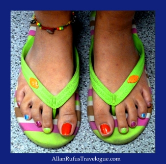 Street Photography -Different painted toenails!