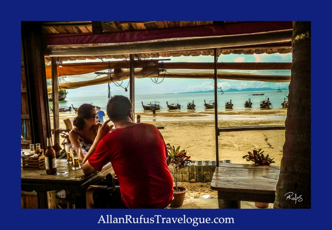 Street Photography - Looking at the boats on the beach near Krabi!