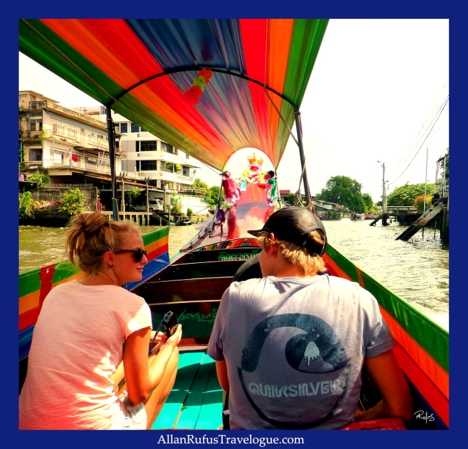 Street Photography - On a canal boat - Bangkok!